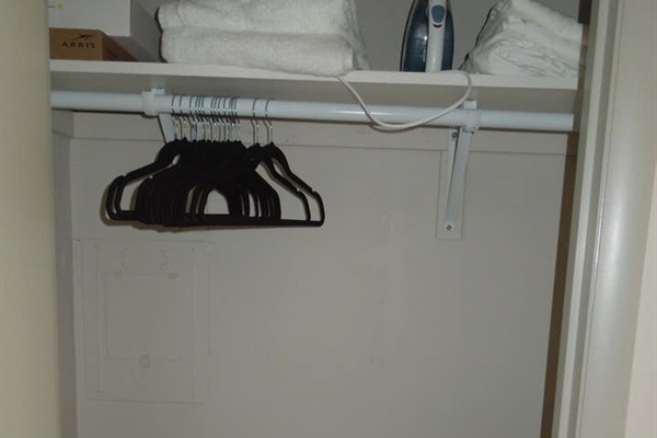 Closet with ironing board & twin size cot