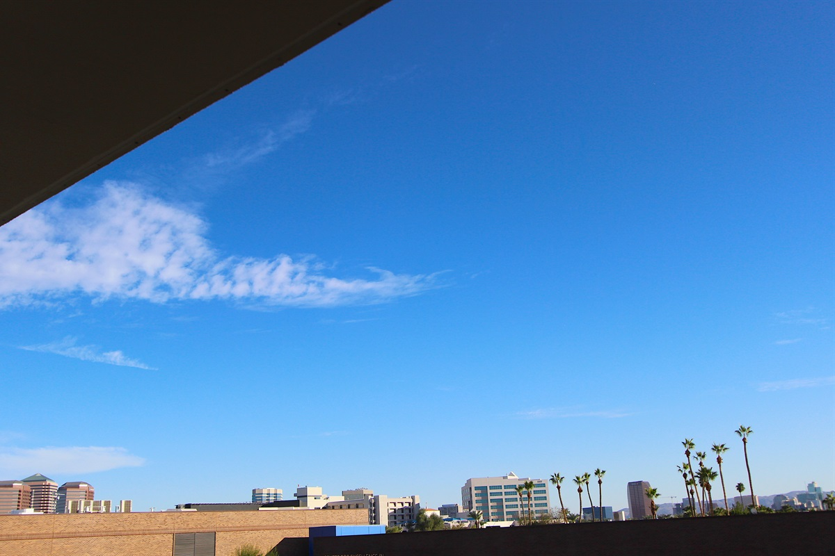 Partial view of Downtown Phoenix