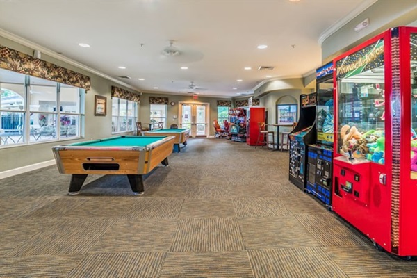 Accessible game and pool room