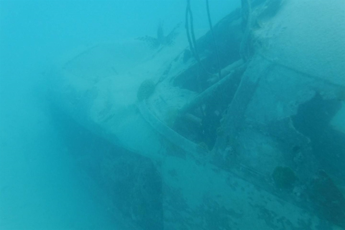 Nearby plane under water (popular snorkel from resort)
