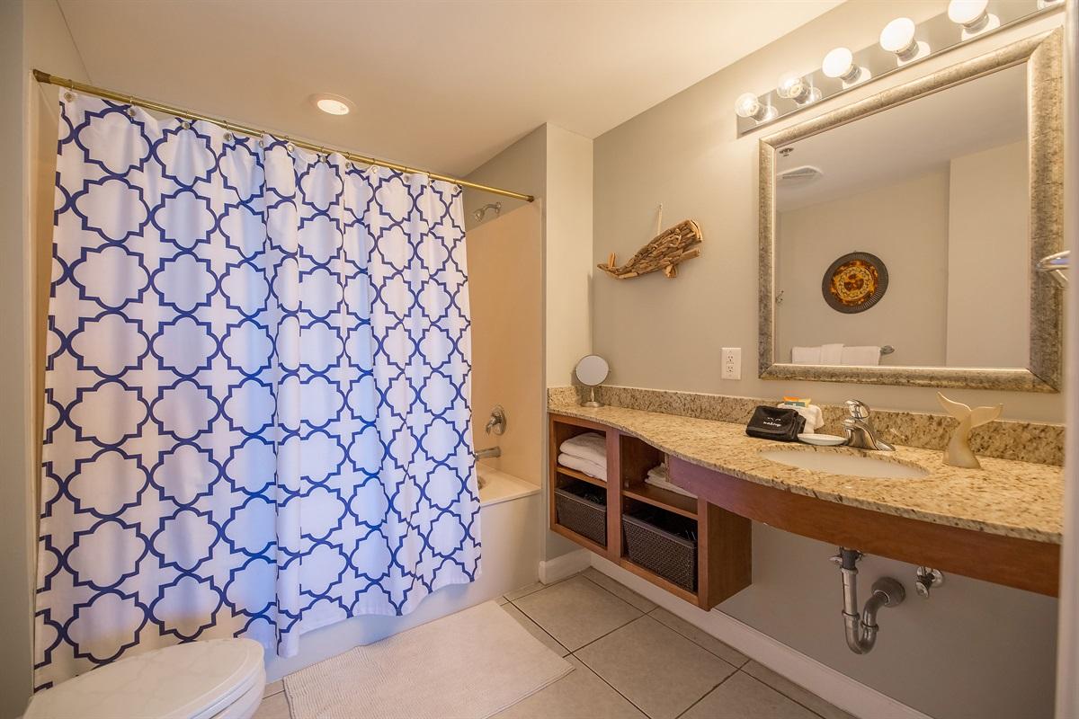 Master bathroom w/ full shower/tub