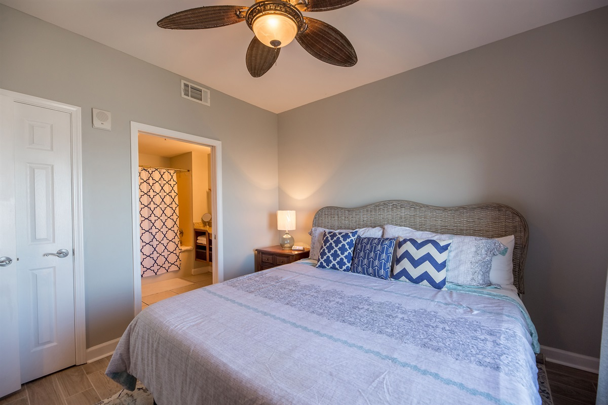 Master bedroom w/ en suite bathroom