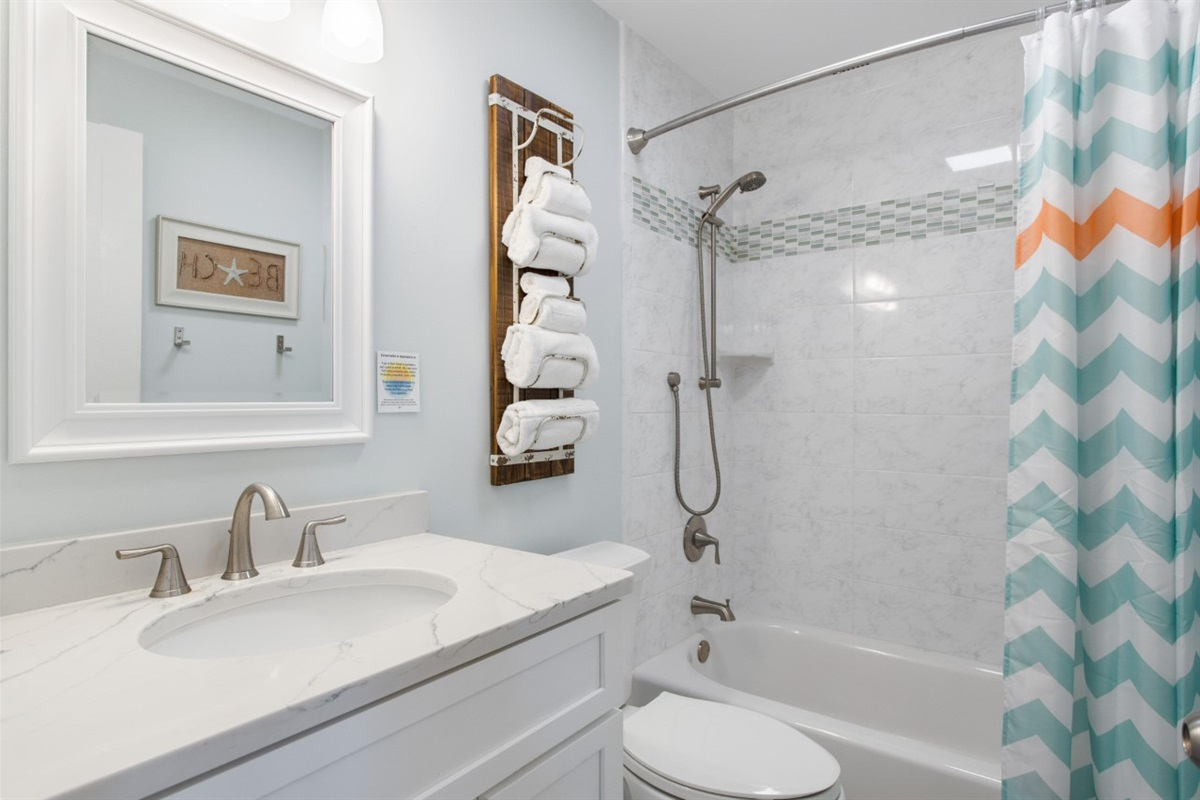 Beautiful bathroom renovation!