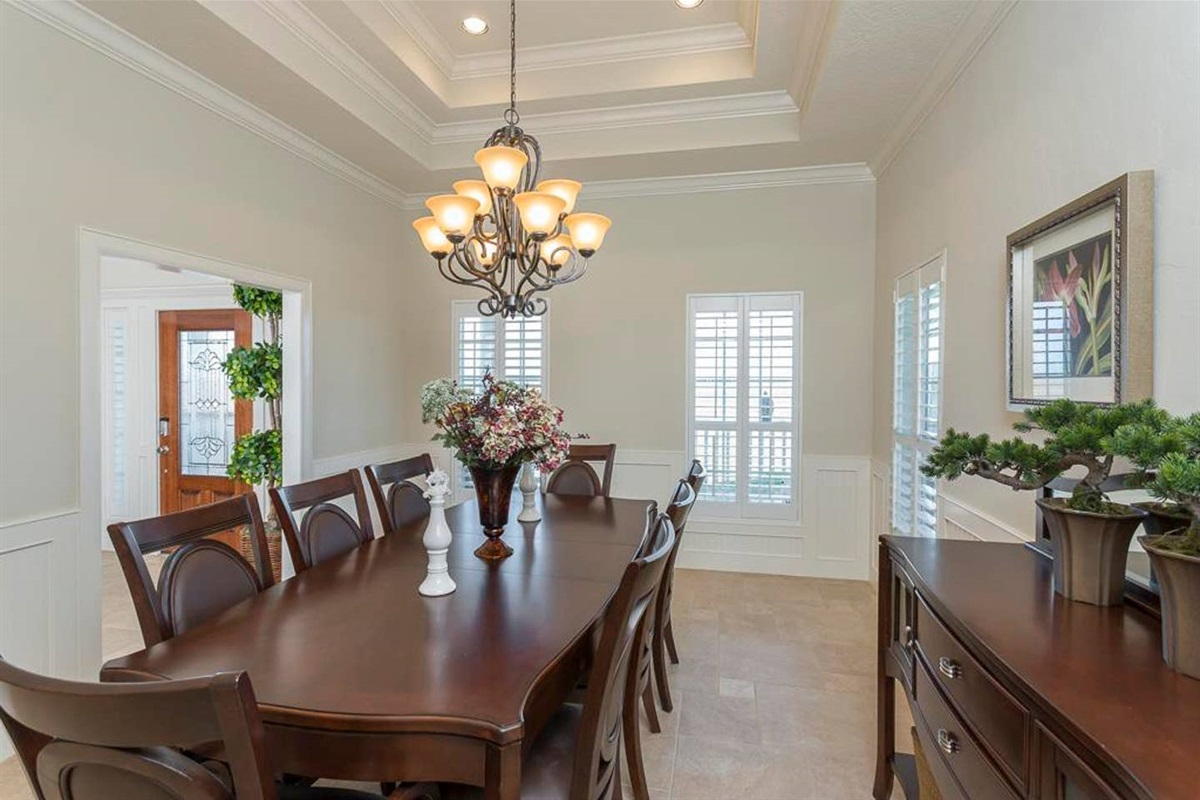 Bay House Also Offers a Beautiful Formal Dining Area