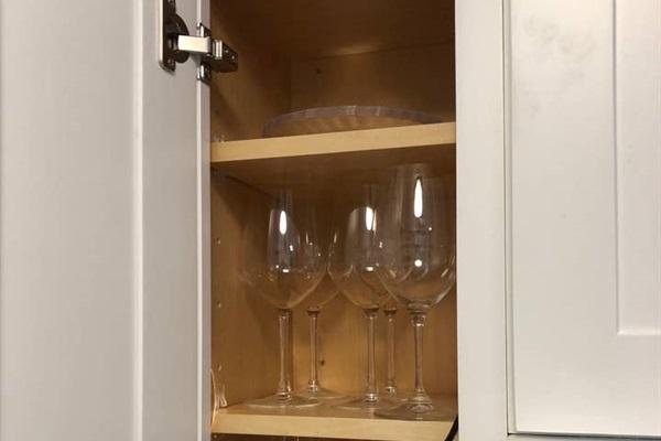 WINE GLASSES  Real wine glasses provided.
