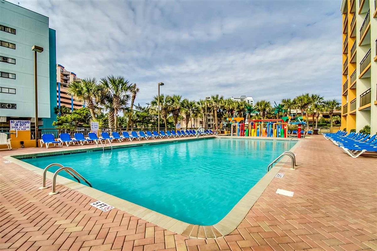 Outdoor Pool at Resort Building