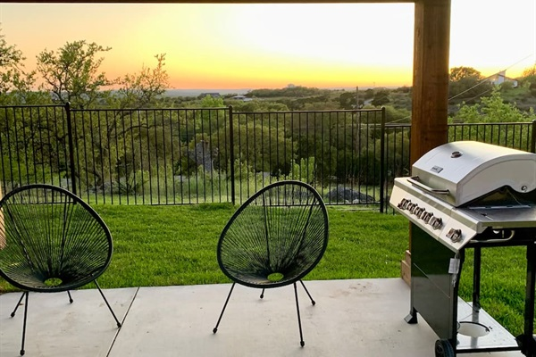 Enjoy our stainless steel propane grill.