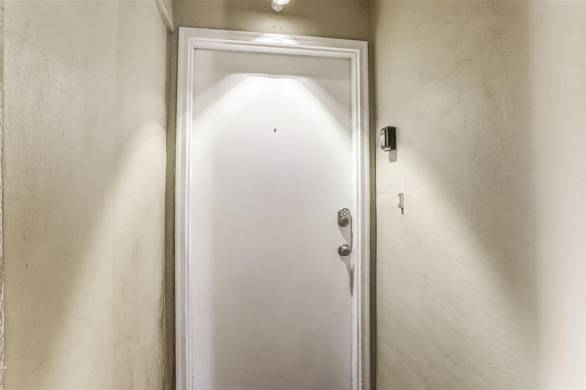 Lighted Front Door to Your Rental