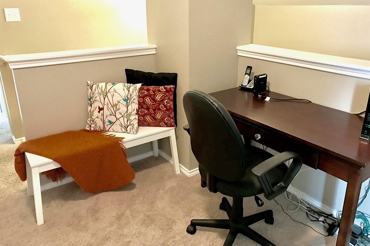 Desk/work area.