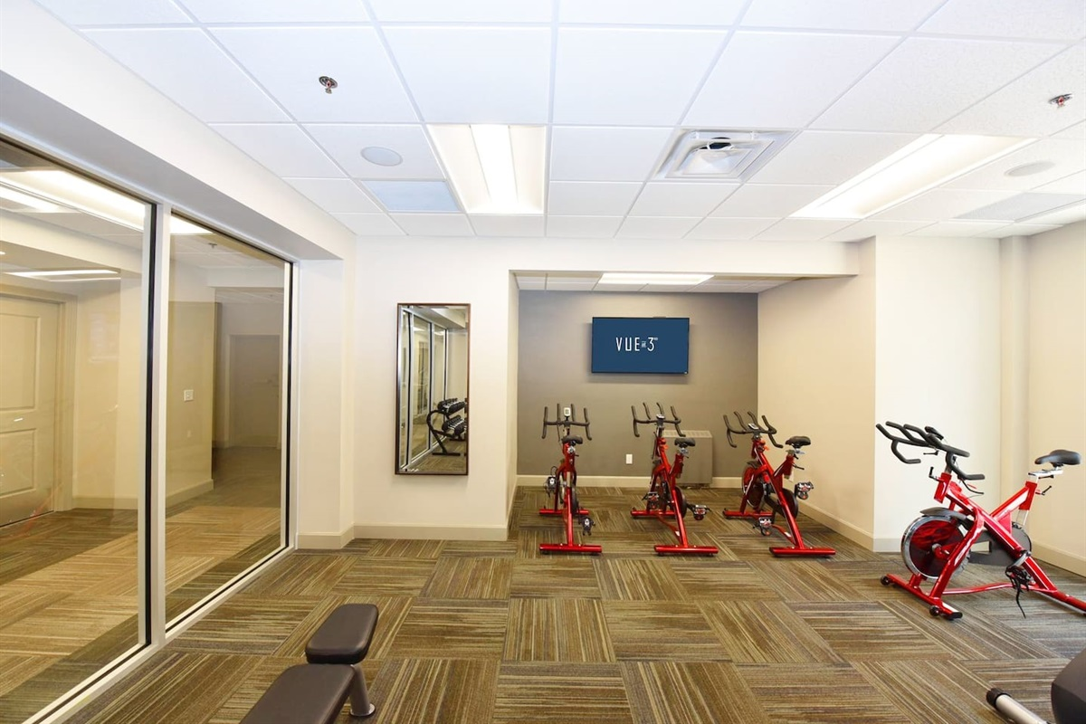 Fitness Center available for you to use 24/7