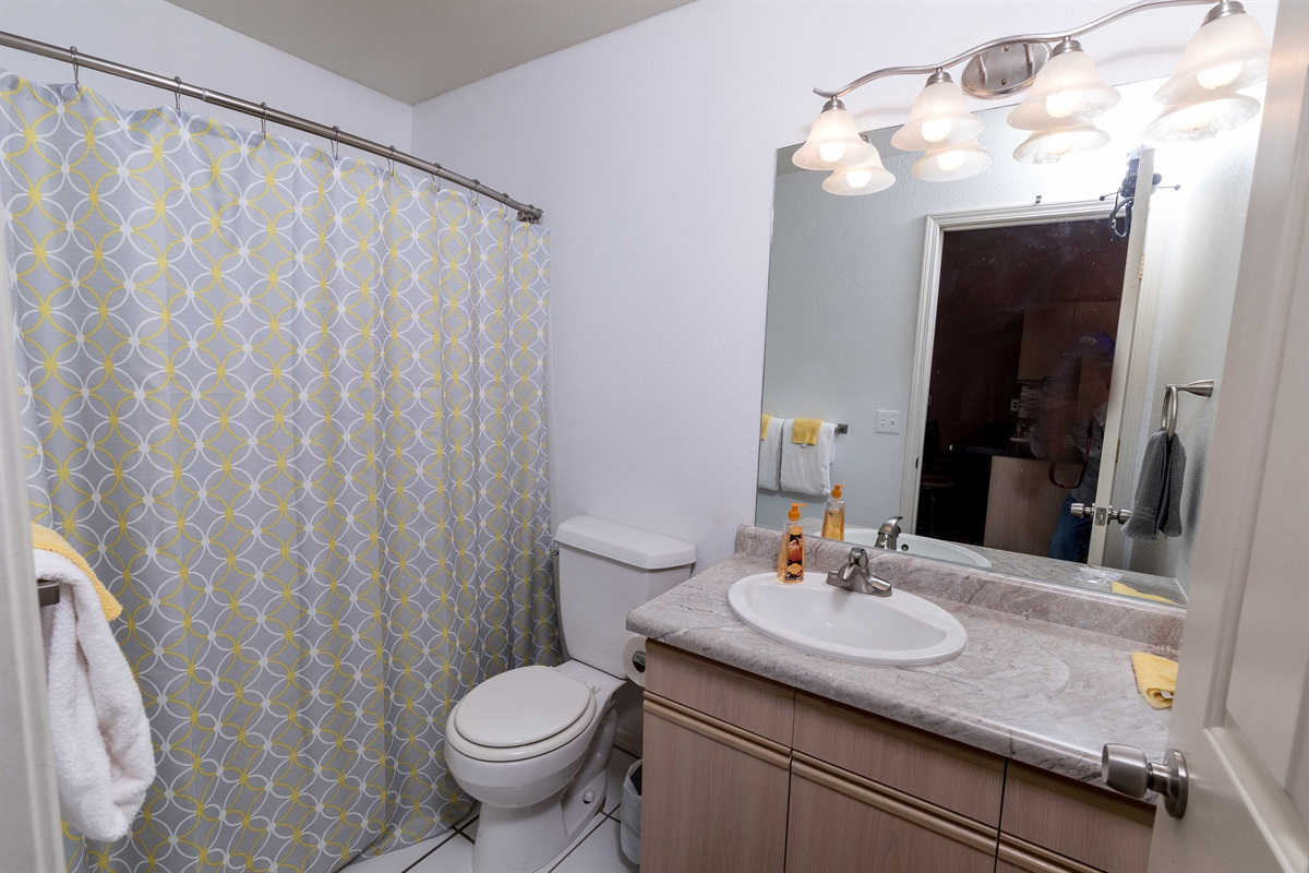 A full bathroom is available just next to the second bedroom!