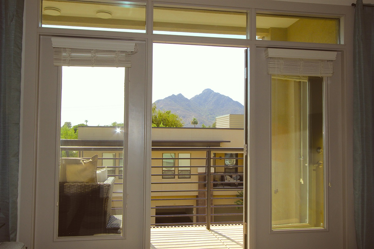 Camelback Mountain View from Livingroom