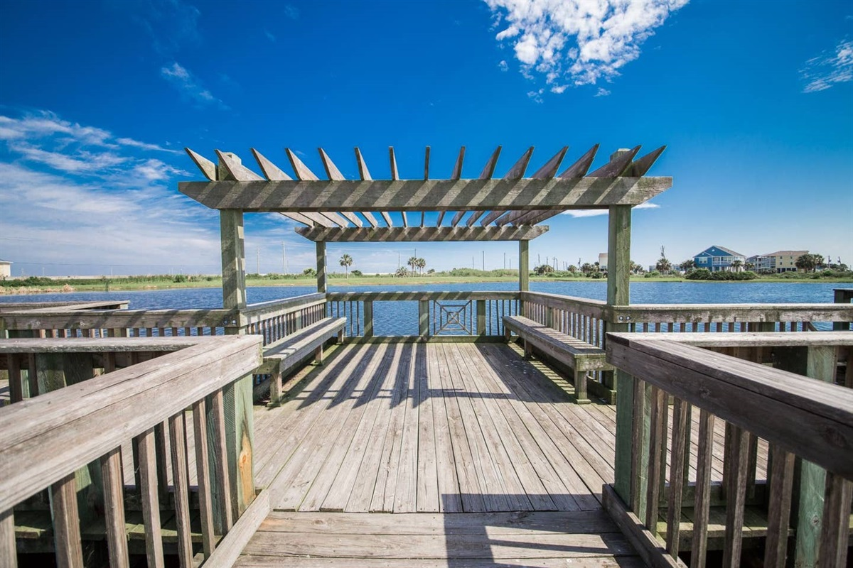 Pointe West Community Fishing Pier on the Bayside