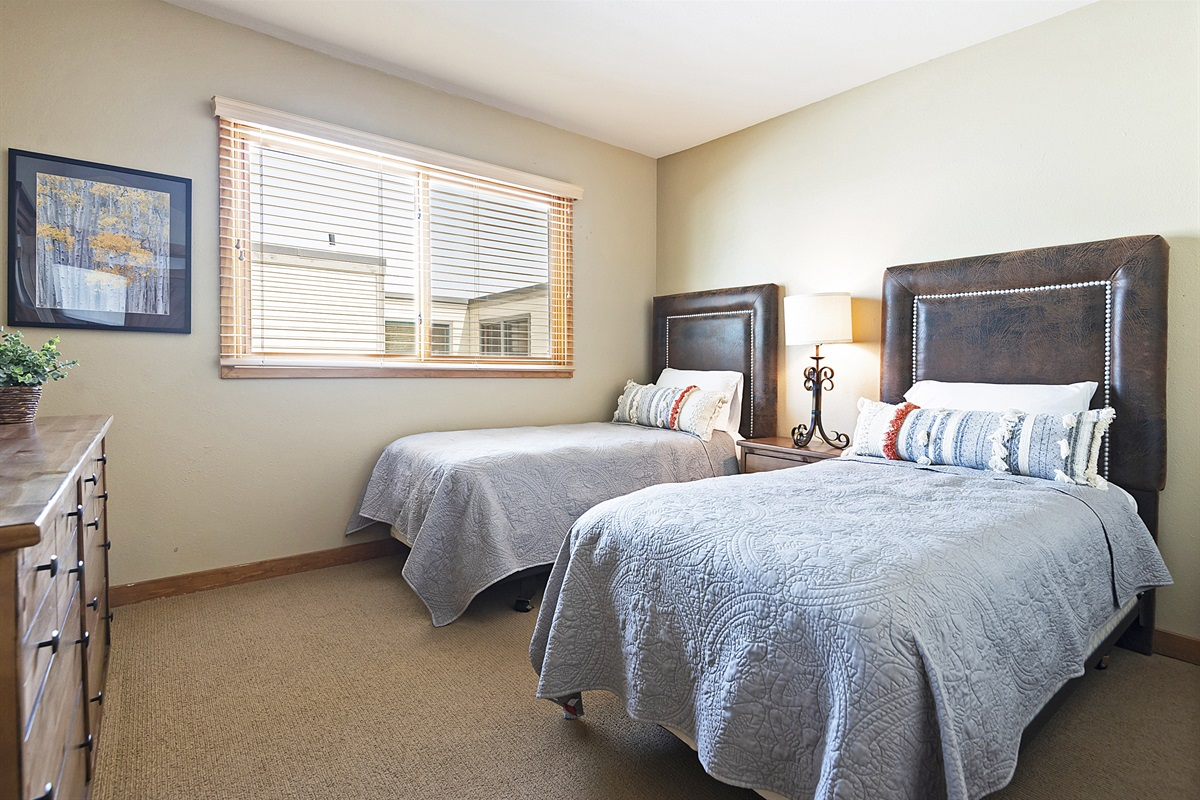 Bedroom 5 - two twin beds