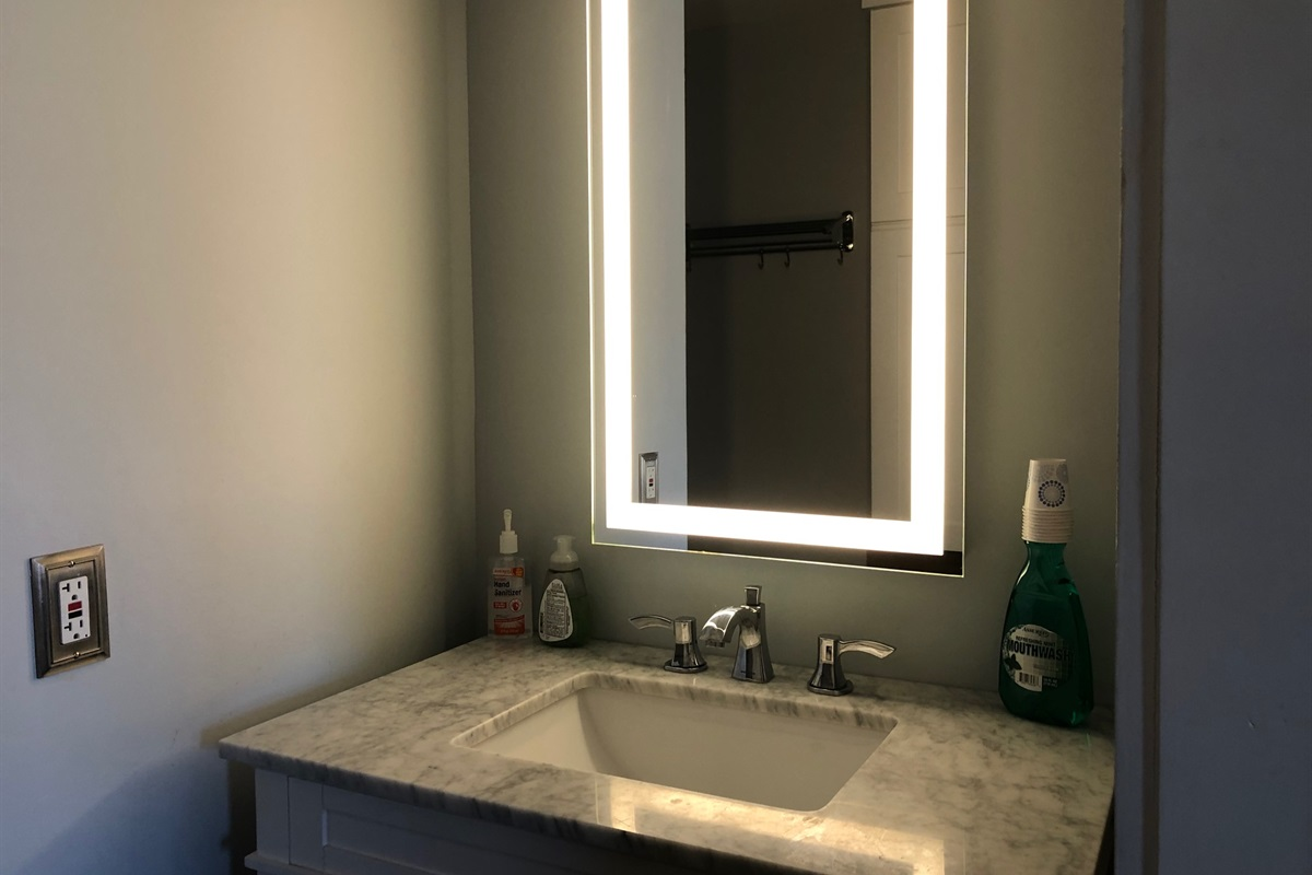 Lighted morris:  All bath vanities have lighted mirrors.