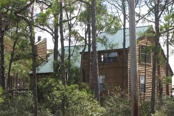 Natural setting with lots of trees provided privacy and tranquility