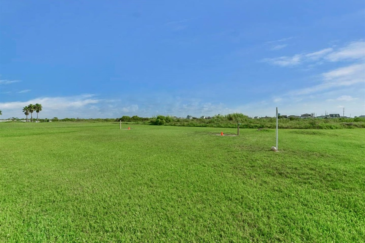 Large Yard to Toss a Ball Around or Play a Game of Tetherball