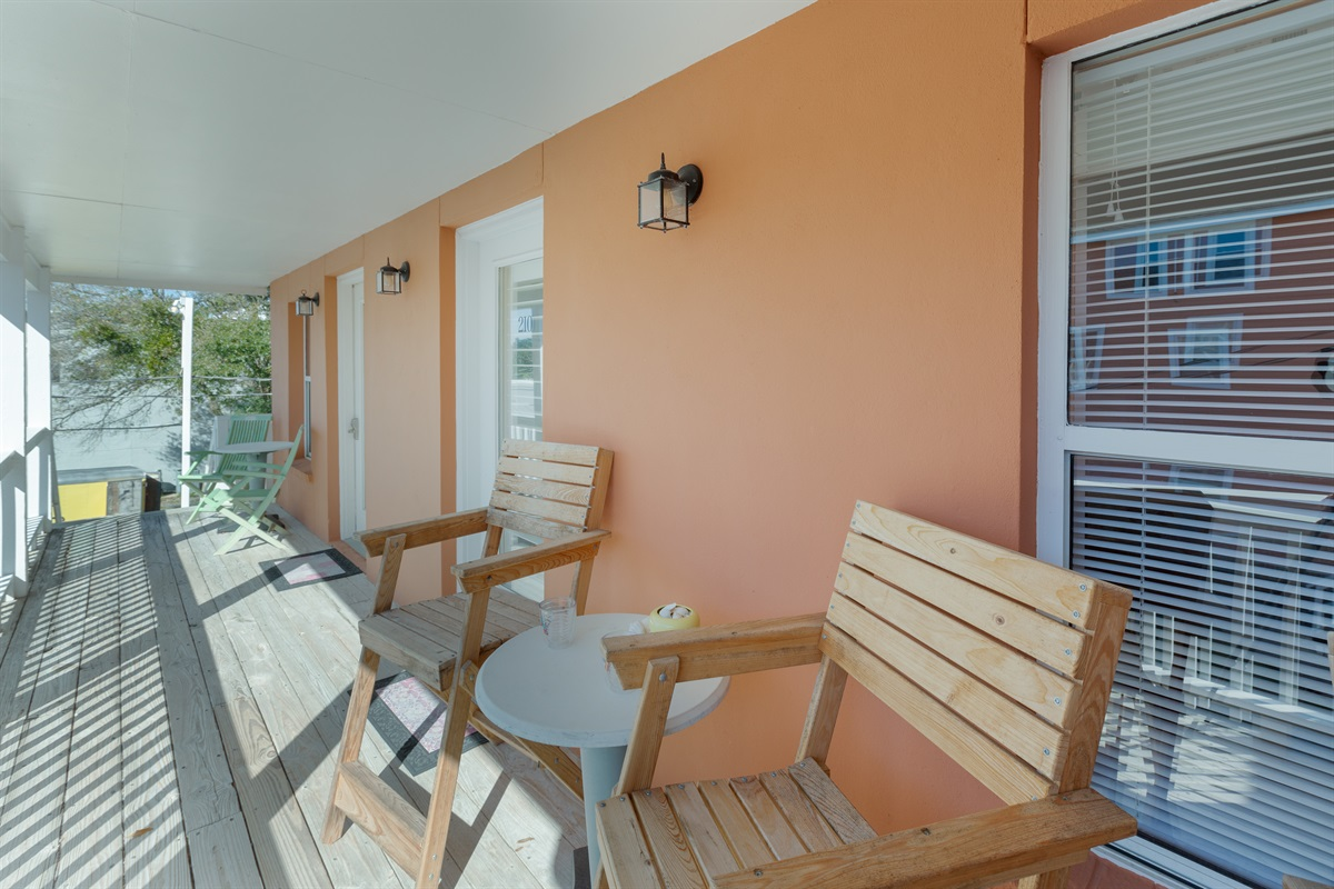 2nd Floor unit with great captains chairs outside for you to enjoy
