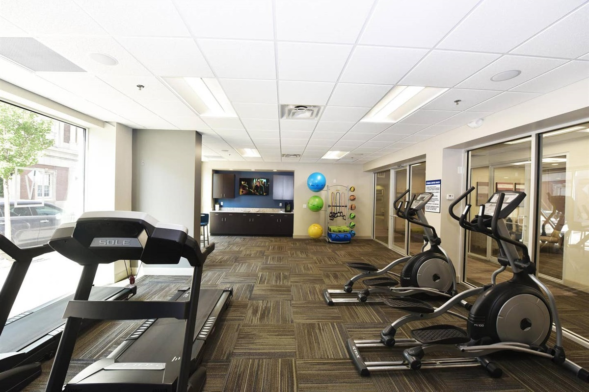 Enjoy use of Fitness Center 24 hours a day!