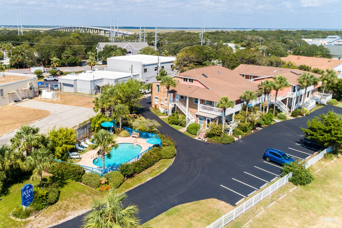 Welcome to The Ocean Inn!  Pool, grill areas, parking, close to beach and restaurants.