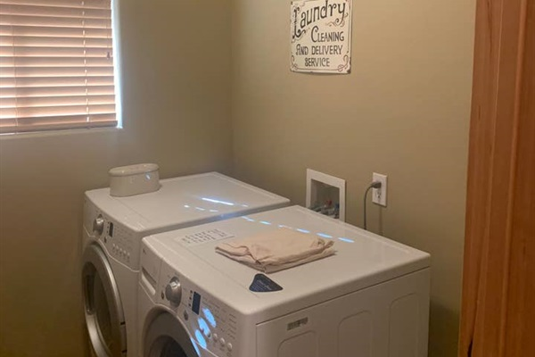 Enjoy the Convenience of Private Full size Washer and Dryer for your Stay