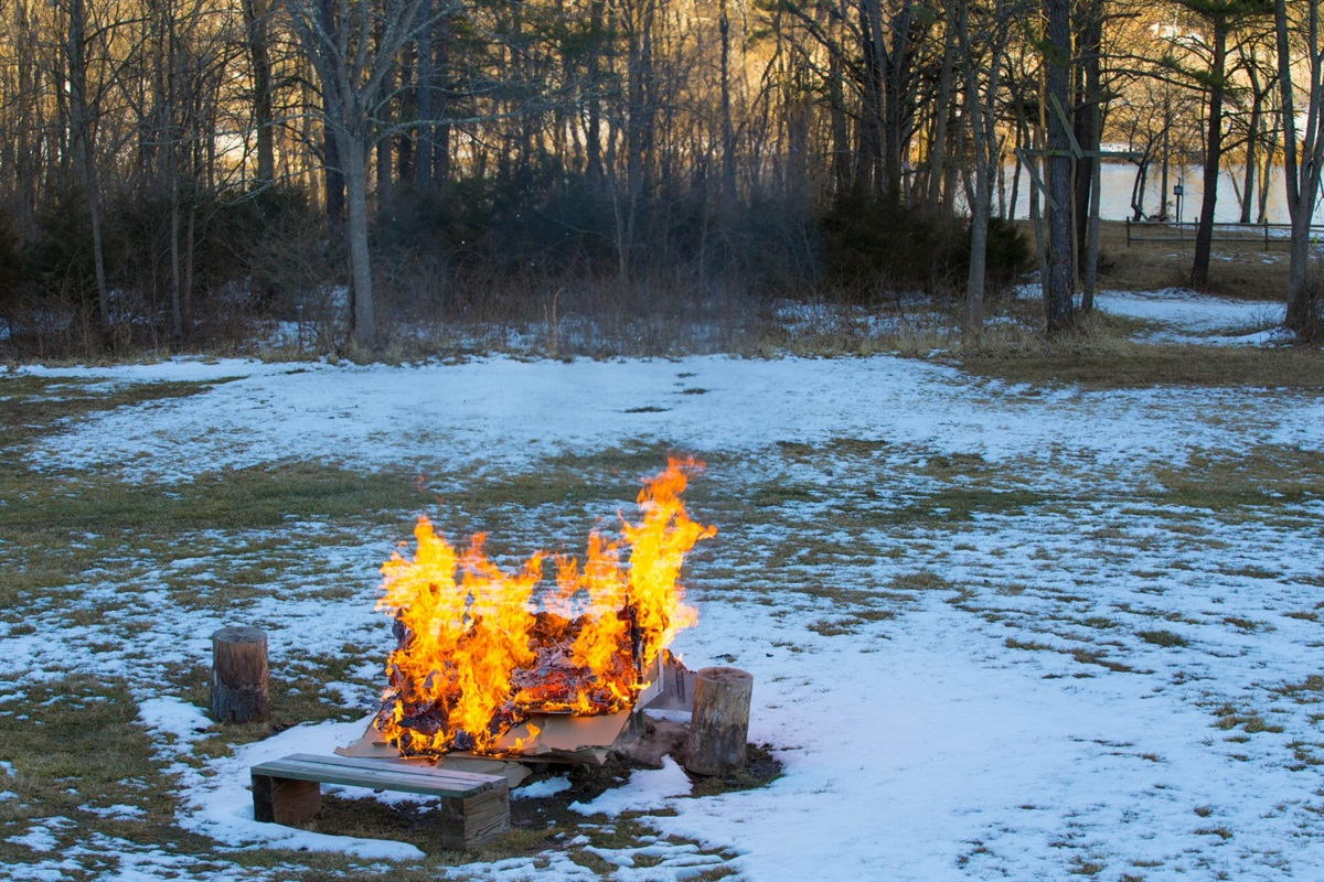 You can enjoy the firepit in the wintertime, too