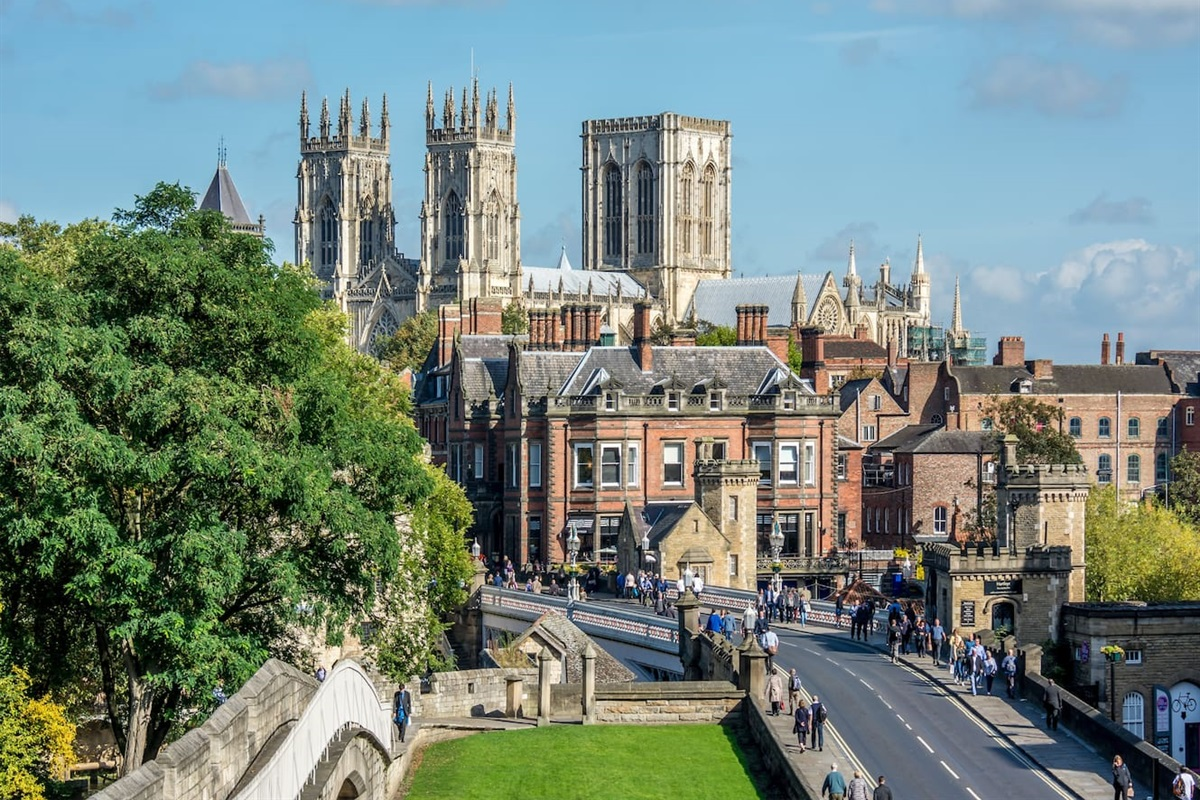 York Minster from the City Walls (photo by owner)