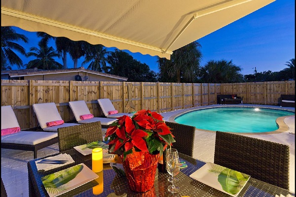 Our Beautiful Florida Summer Nights by the Pool