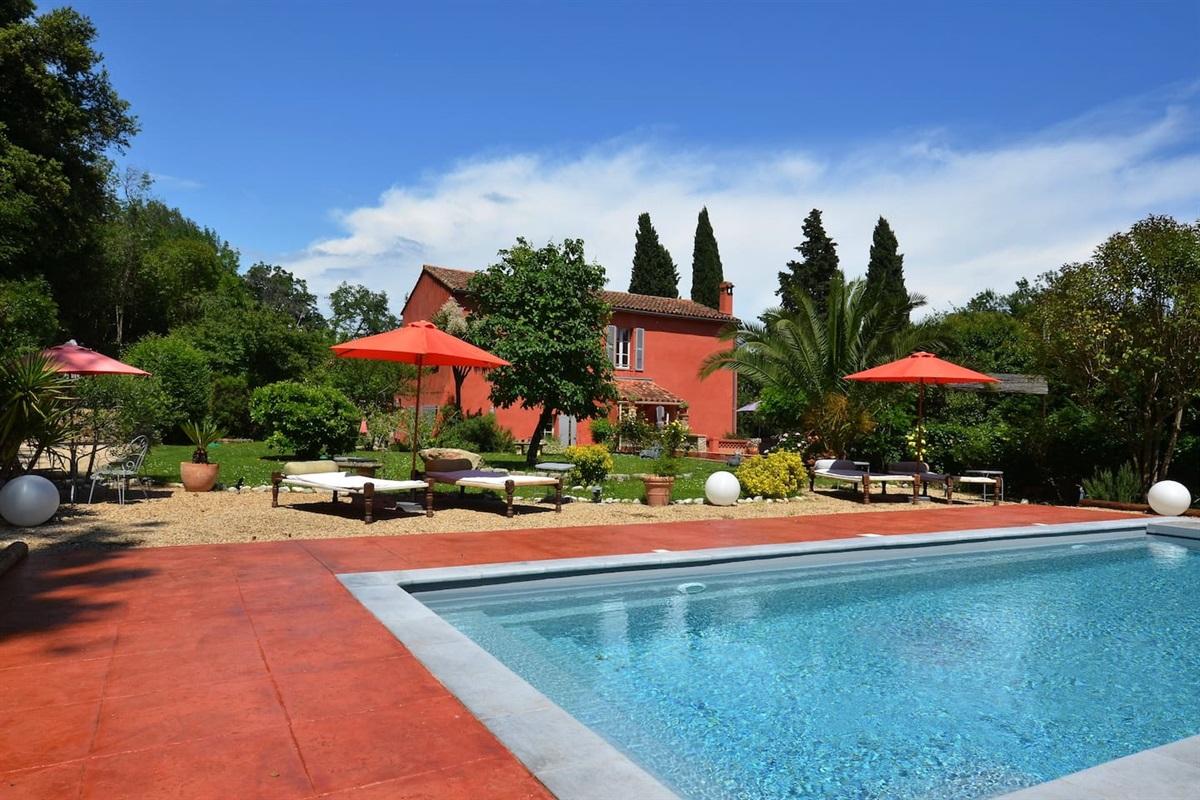 vue de la Villa Chandra de la piscine