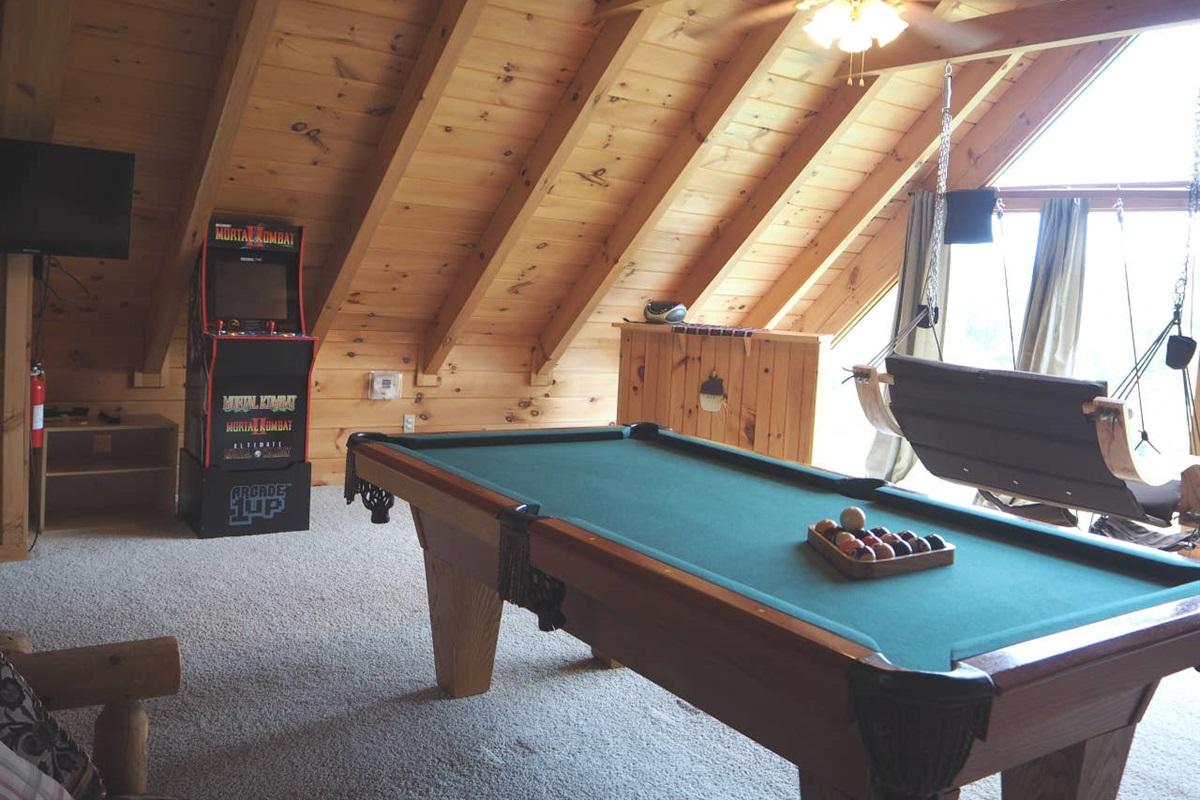 Enjoy the entertainment in the loft