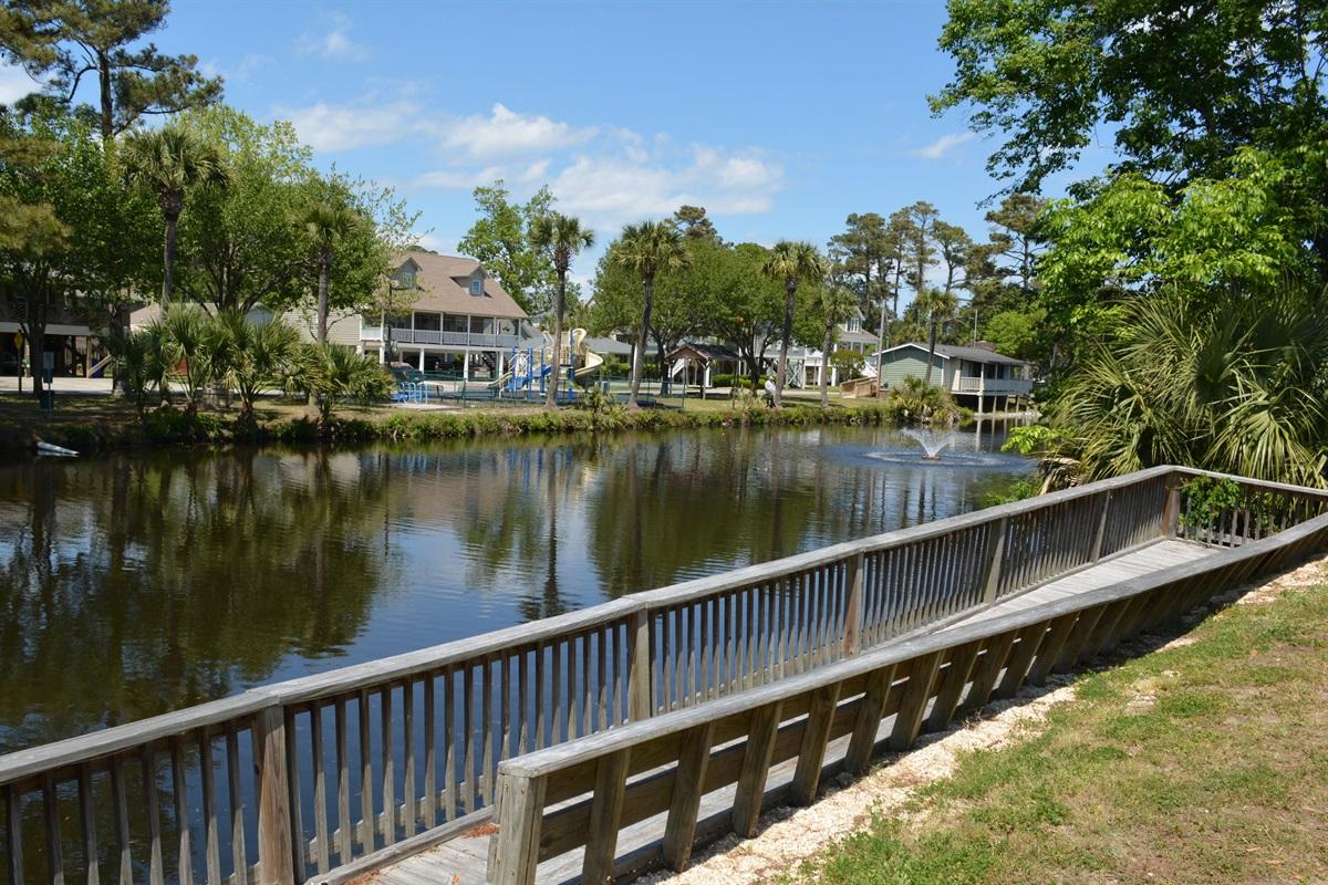 Boardwalk on Pond