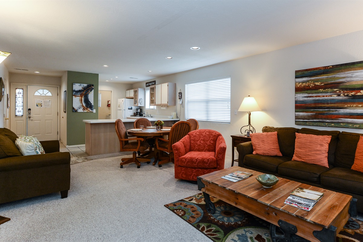 The spacious and open living room has plenty of room to spread out!