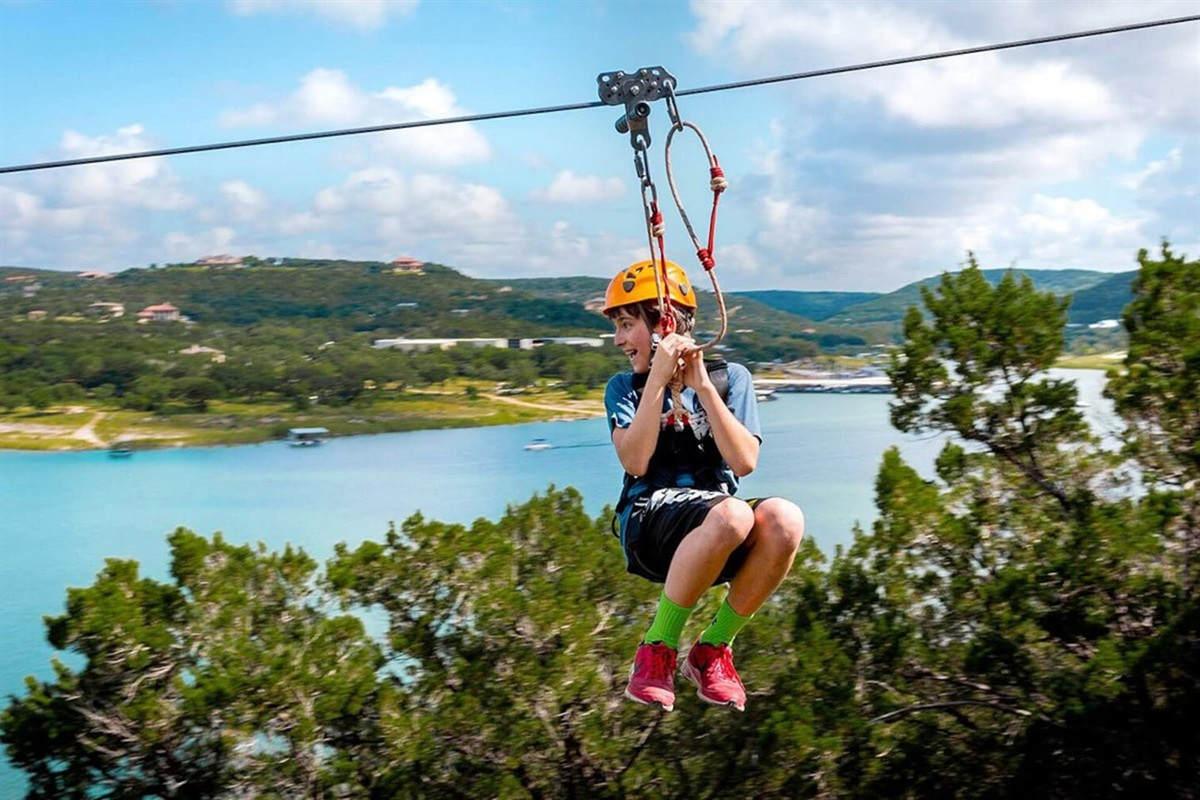Ziplining - Lake Travis