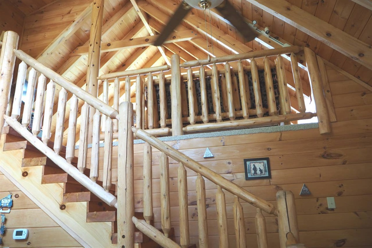 Head up stairs for the loft/game room and breathtaking views!