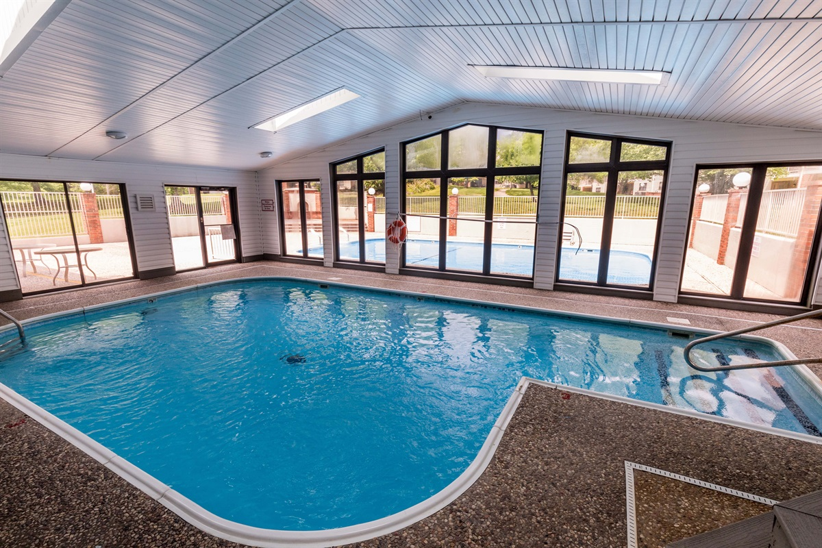 Indoor and outdoor pools offer year-round recreation