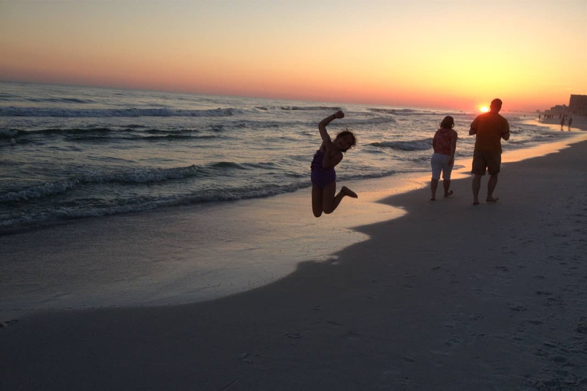 Enjoy great sunsets when staying at this Sandestin Luau beachside condo