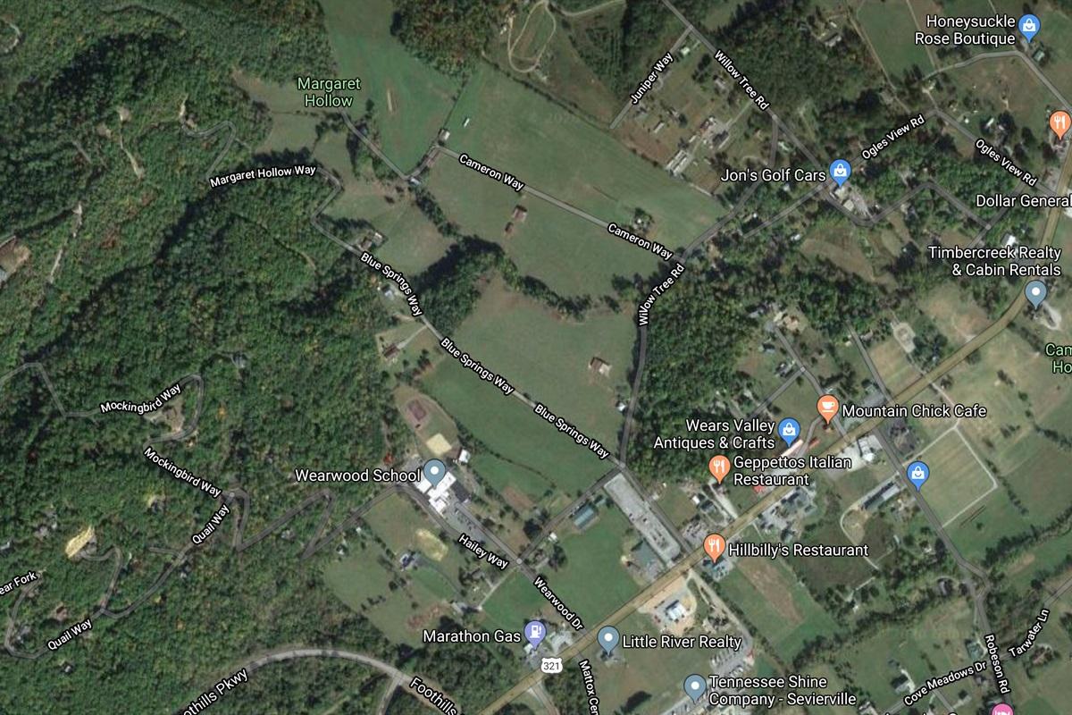 Google Maps area view