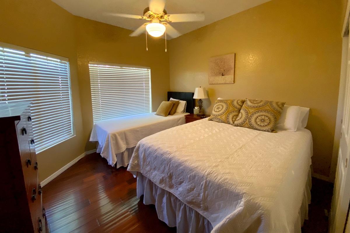 Bedroom 2 - Queen & TwinXL beds