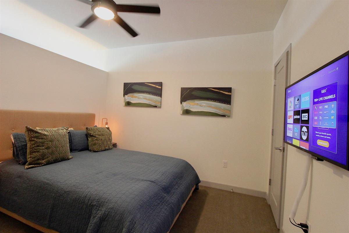 Master bedroom with Queen bed.