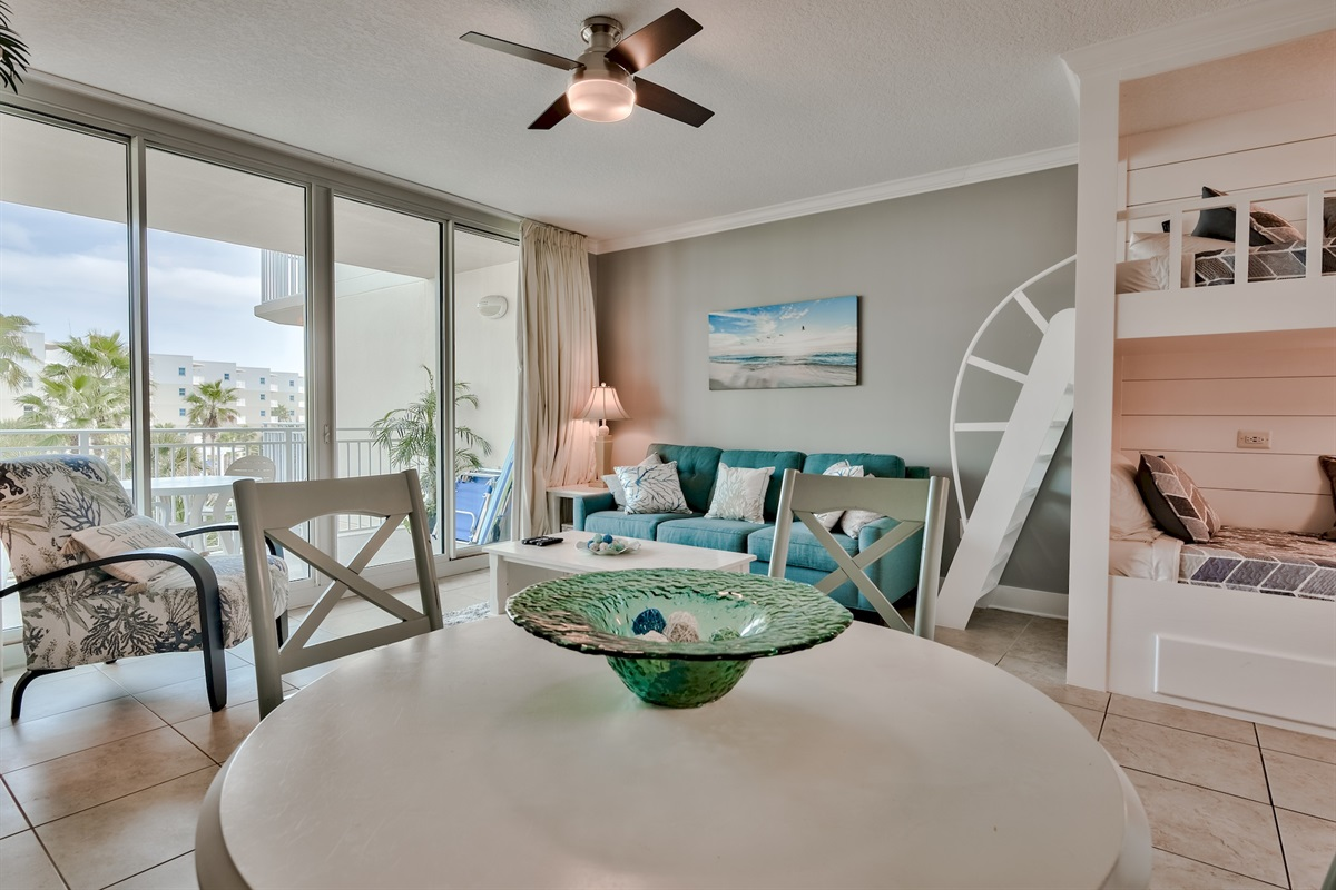 Waterscape Resort Courtyard views unit with fresh paint and updates