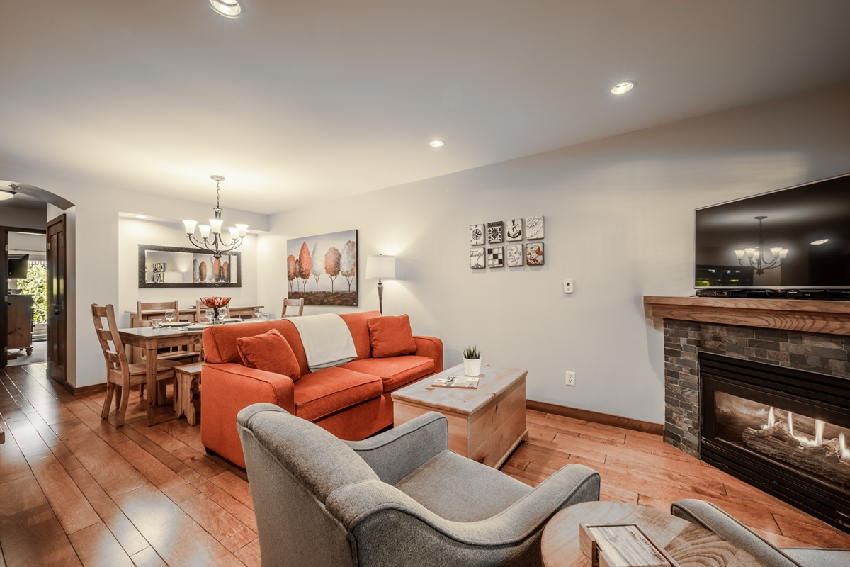 Living and Dining Room - Large open space perfect for family living.