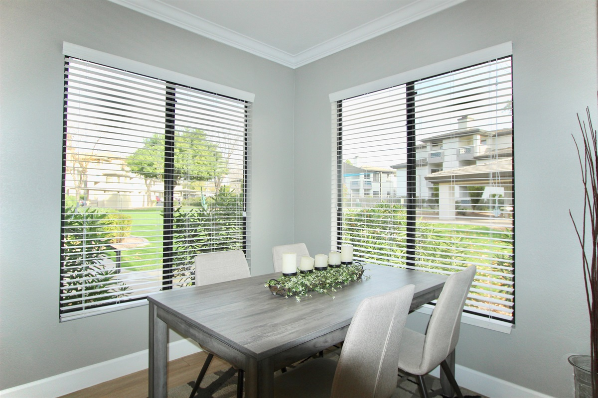 Dining room with seating for four.