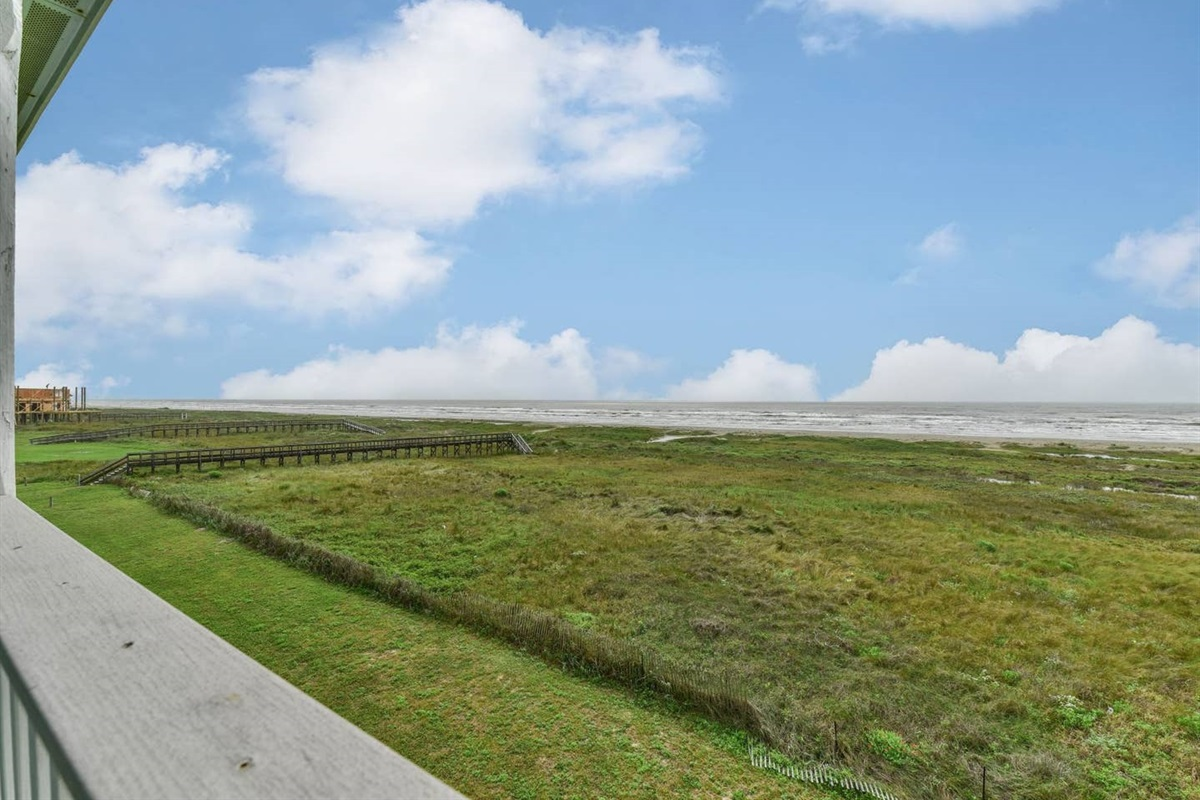 View from Balcony of Gulf & Beach