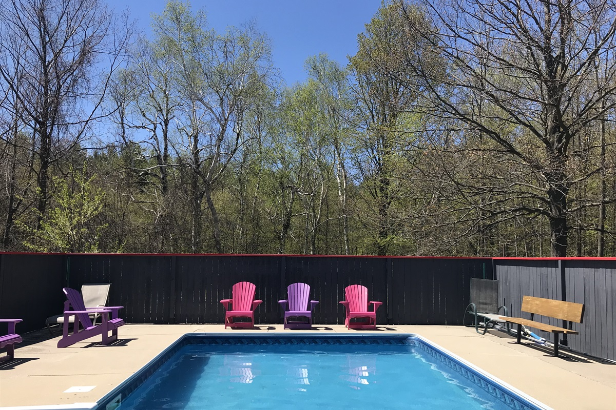 Backyard private pool