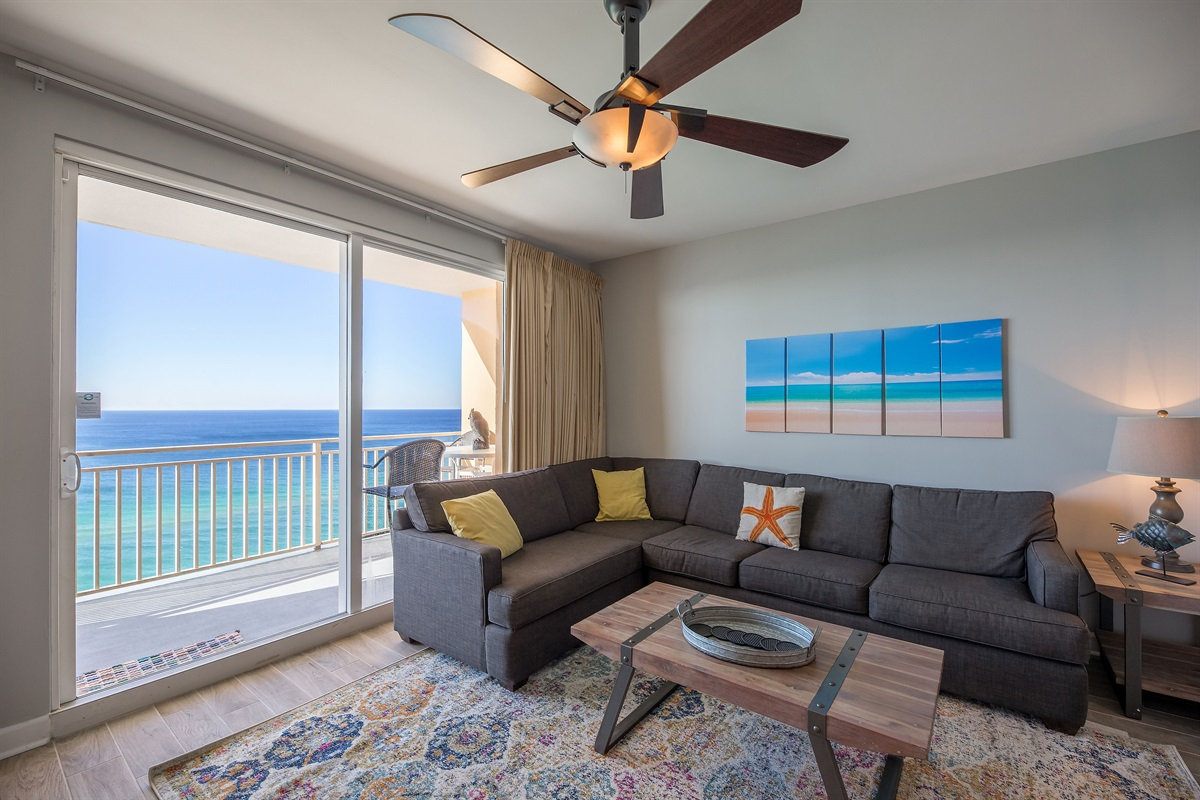Beautiful gulf view from living room