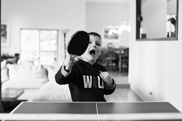 mid-sized ping-pong table - play wherever you'd like