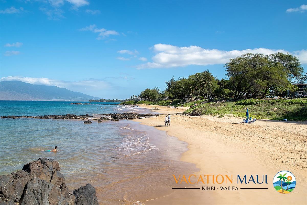 Stunning Kamaole III Beach across the street