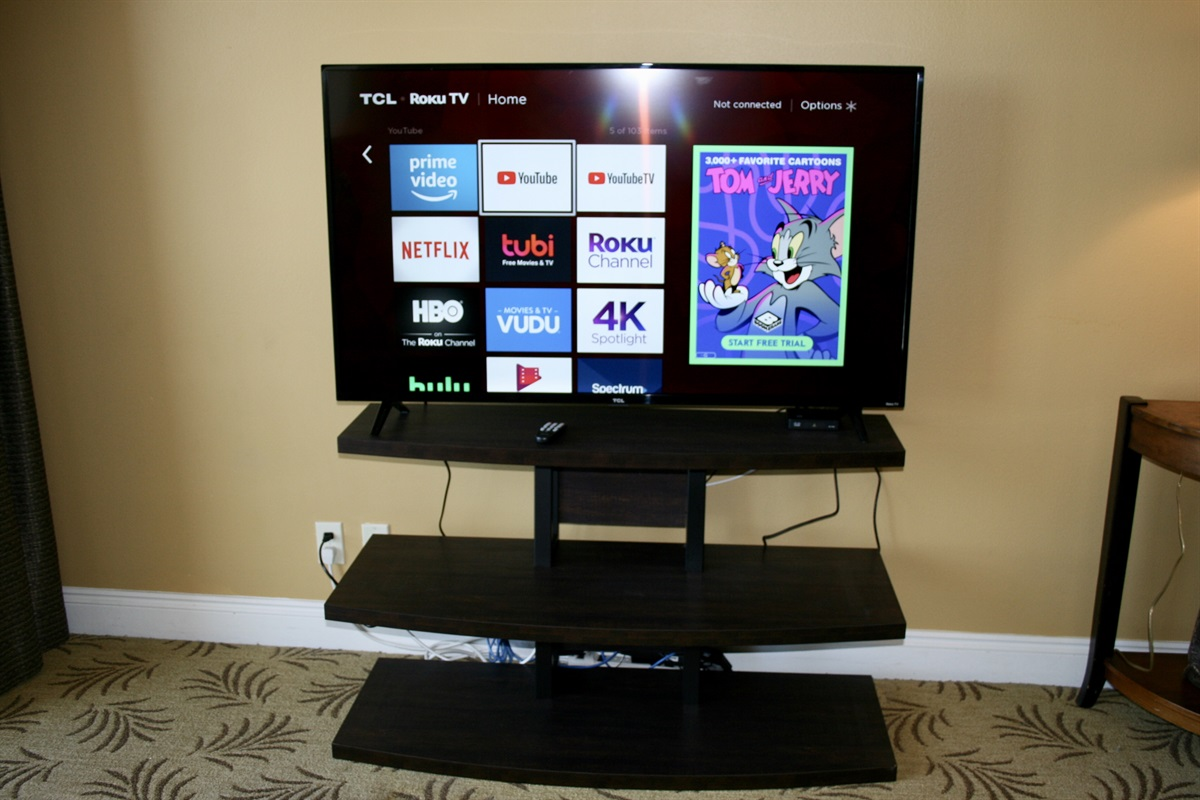 "New 55"" Smart Tv in Living Area"