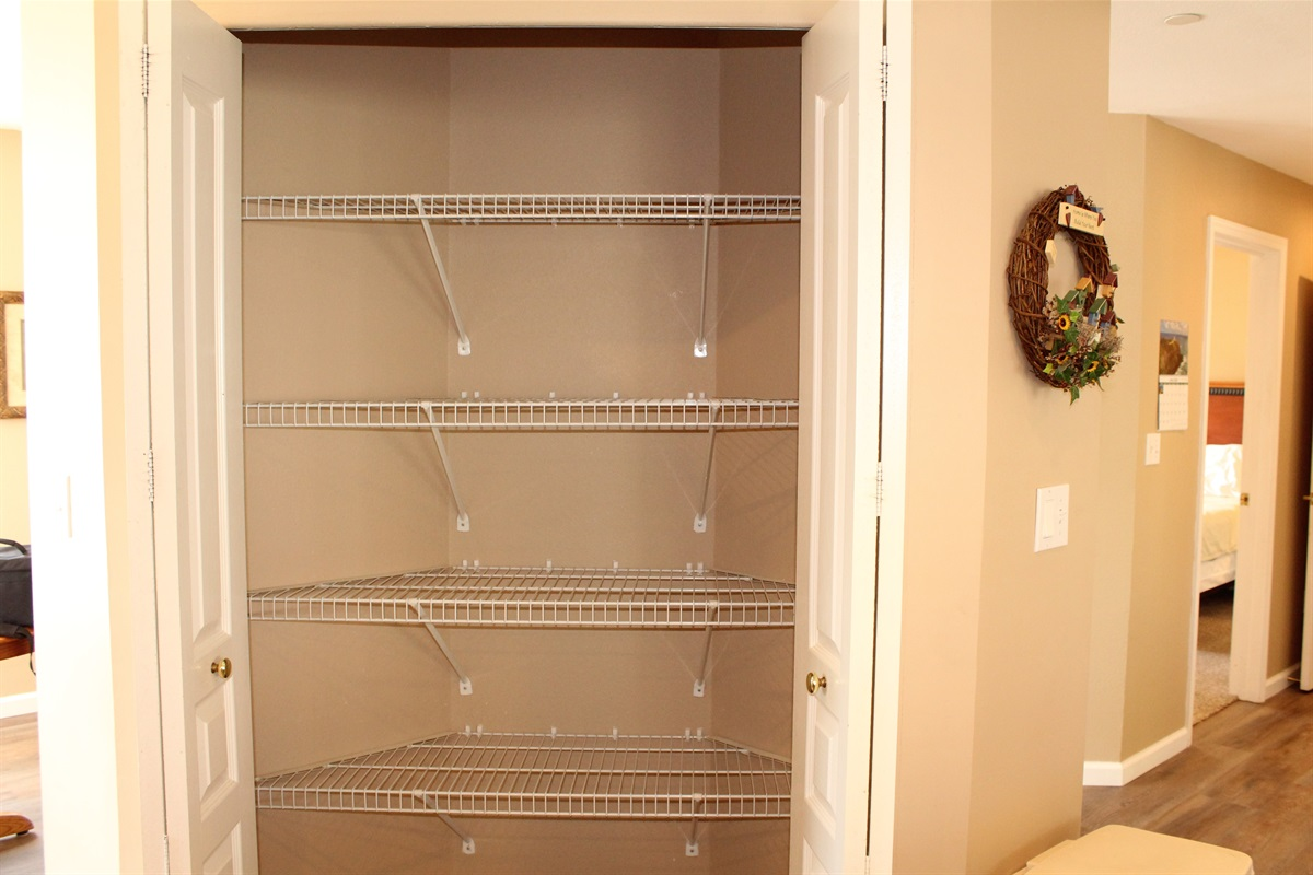 Plenty of room for your groceries in the pantry.