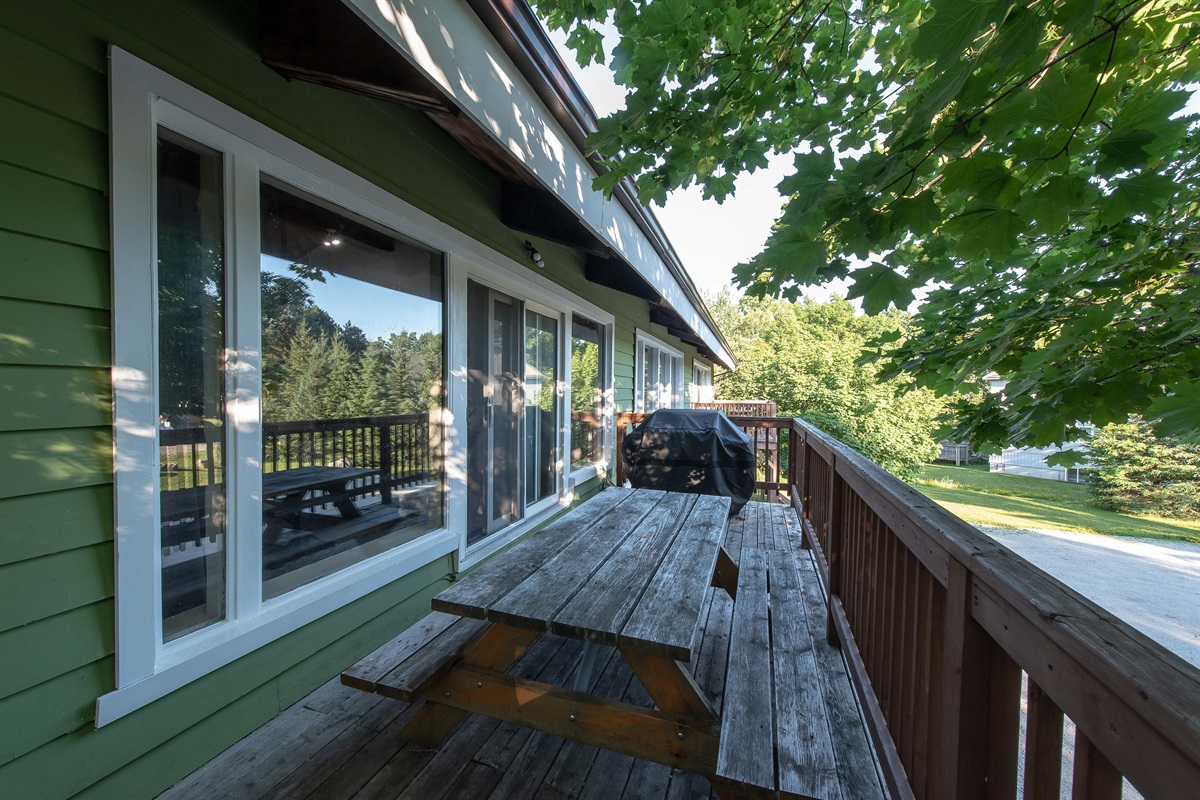 """""""Moose"""" - Oversize balcony for outdoor barbecuing and dining with view of Blue Mountain"""